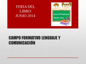 CAMPO FORMATIVO LENGUAJE Y COMUNICACIÓN