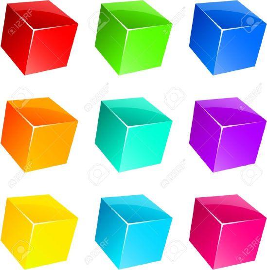 7385398-Conjunto-de-vibrantes-cubos-3D-brillantes--Foto-de-archivo.jpg